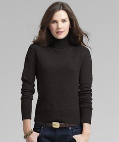 This cashmere turtleneck would be a great gift for mom.    Cashmere Turtleneck: SWEATERS | Free Shipping at L.L.Bean