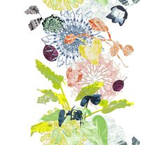 Nature psychedelique : Tissu Fantasia, Trevira CS (Création Baumann).