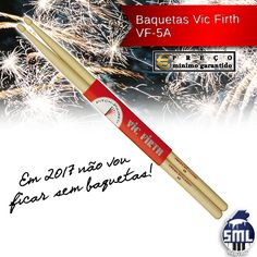 É sempre bom ter baquetas suplentes! Pode comprar aqui: http://www.salaomusical.com/pt/acessorios/103-par-de-baquetas-vic-firth-vf-5a-ponta-de-madeira-nova.html