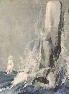 Moby Dick. Herman Melville. 1959 Editions Fabbri, Milano. Illustrations De Gaspari, Bartoli, Cattaneo et Maraja.