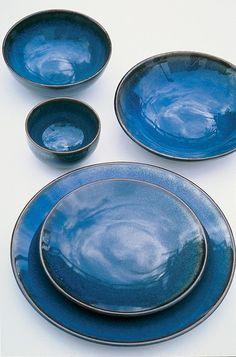 Jars Keramik Tourron Fb.Indigo Speise/Platzteller 31 cm