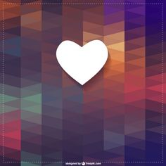 Heart triangle vector background
