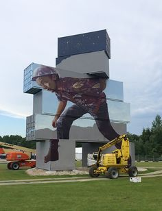 Stacked Shipping Containers Become Street Art Giants | The Creators Project
