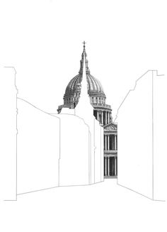 Minty Sainsbury is a London based Artist specialising in architectural pencil drawings. Shop limited edition signed prints on her online store. Architecture Concept Drawings, Architecture Collage, Amazing Architecture, Architecture Details, Conceptual Architecture, Architecture Models, Architecture Student, X 23, Pantheon Paris