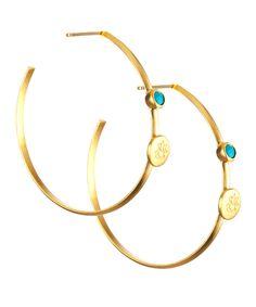 Satya Jewelry Turquoise Ganesha Earrings