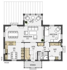 House Plans, Sweet Home, Villa, New Homes, Floor Plans, House Design, How To Plan, Austria, Sims