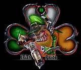 Irish Pride Shamrock Skull - T-Shirt Celtic Pride, Irish Pride, Irish Celtic, Celtic Fc, Celtic Knots, Evil Leprechaun, Leprechaun Tattoos, Pride Tattoo, Irish Symbols