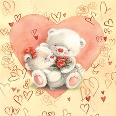 Teddy Bear Images, Teddy Bear Pictures, My Teddy Bear, Cute Teddy Bears, Happy Birthday Girl Quotes, Happy Birthday Card Design, Happy Birthday Images, Valentine Images, Vintage Valentine Cards