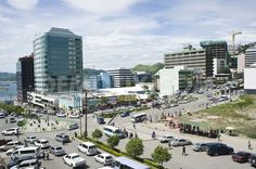 Papua New Guinea's fast developing capital of Port Moresby ...