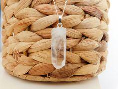 Cristal de quartz naturel monté sur chaîne argent par FolleDeJoie