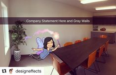 ( ・・・ Board Room Meeting almost finished here at - Just a few more touches. Finish Line, Grey Walls, Corner Desk, Interior Decorating, It Is Finished, Board, Room, Furniture, Home Decor