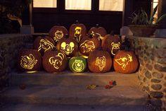 Disney Sisters: Pumpkin Carving Disney Style