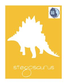 8x10 PRINTABLE STEGOSAURUS  DIGITAL Typography by BlueMoonDesigns1, $7.00