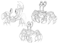 Crabs Dribb designed by candice ciesla. Connect with them on Dribbble; Cartoon Sea Animals, Fall Wedding Makeup, Drawing Sketches, Drawings, Crabs, Drawing Reference, Body Art Tattoos, Caricature, How To Draw Hands
