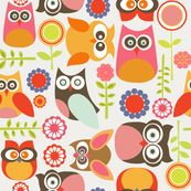 Cute little Owls by valentinaramos, click to purchase fabric