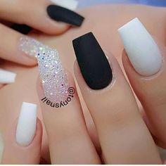 Cute Short Nail Art Designs for Summer in 2019 - Page 5 of 20 Short nails are often considered boring and difficult to design. But that's not true. No matter how long your nails are, there's always a way… White Coffin Nails, Acrylic Nails Coffin Short, White Acrylic Nails, Best Acrylic Nails, Prom Nails, My Nails, Wedding Nails, Cute Acrylic Nail Designs, Acrylic Nails With Design