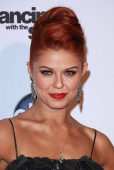 Anna Trebunskaya wows with red hairstyle