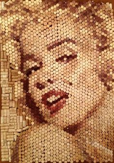 Wine Cork Art - Marilyn Monroe