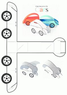 printables for kids Paper Car, Paper Toys, Diy Paper, Paper Crafts, Printable Crafts, Printables, Fun Crafts, Crafts For Kids, Elementary Art