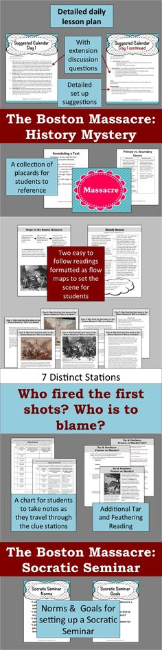 Snowballs are flying along with jeers from an angry mob. Shots ring out in the crowd! But was it a massacre? The events leading up to the Boston Massacre were exciting. Put students in the time period with two different researched readings. (Included are directions for how to annotate a reading.)