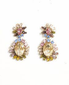 Spring Crystal Drop Earrings - 422581
