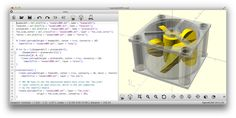 OpenSCAD - OpenSCAD is a software for creating solid 3D CAD objects. It is free software and available for Linux/UNIX, MS Windows and Mac OS X.
