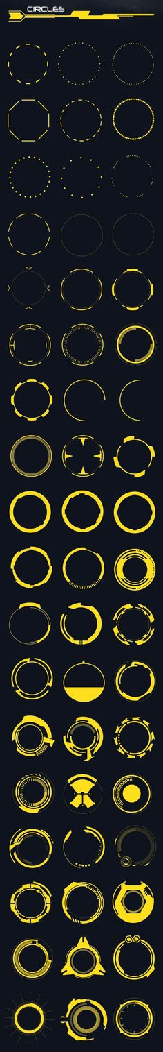 Buy 60 Hi-Tech Circles (Custom Shapes) by anchor_point_heshan on GraphicRiver. 60 Hi-Tech circles set (Custom shapes) This file contains 60 Hi-tech circle shapes in a custom shapes file, You can u. Game Design, Icon Design, Design Art, Logo Design, Gui Interface, Interface Design, Photoshop Shapes, Circle Shape, Circle Ui