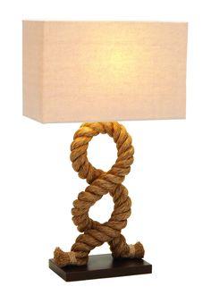 Designers lamps - wood metal rope pier lamp