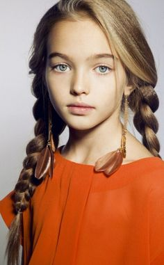Russian child model Anastasia Bezrukova.