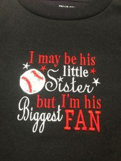 Little Sister Baseball Shirt on Etsy, $15.00