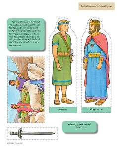 Ammon and King Lamoni scripture figures- these would be really good to make into felt figures