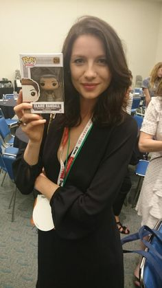 .@caitrionambalfe has her hands on her very own #Outlander Claire Funko Doll. Get yours this September!