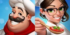 World Chef icons. by javieralcalde on DeviantArt World Chef, Caricature, Character Design, Character Reference, Illustration, Disney Characters, Fictional Characters, Deviantart, Comics