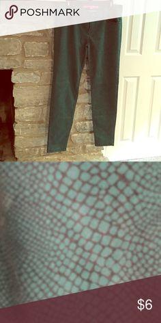 Green pants Green snakeskin pants Tinseltown Pants Skinny