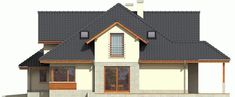 DOM.PL™ - Projekt domu AC Naomi G2 CE - DOM AF1-08 - gotowy koszt budowy Village House Design, Village Houses, Micro House, Home Fashion, House Plans, Outdoor Structures, Cabin, Mansions, House Styles