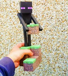 Minecraft Papercraft - Large Enderman Free Template Download…