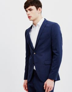 Selected Navy Blazer   Available at The Idle Man   Shop now   #StyleMadeEasy