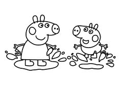 peppa pig coloring pages printable | Peppa Pig Cartoon Coloring Pages Picture :