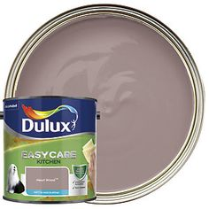 Dulux Easycare Kitchen Matt is an exceptionally tough, grease and stain resistant paint. Its greaseproof formulation resists everyday cooking stains, and it's washable without the colour fading, so even the busiest kitchens will look great for longer. Dulux Kitchen Paint Colours, Dulux Green Paint, Purple Kitchen Walls, Hallway Paint Colors, Paint Colors For Home, Best Kitchen Colors, Kitchen Wall Colors, Kitchen Decor, Kitchen Design