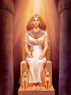 """Lady Bast ~ As the daughter of Ra she was one of the goddesses known as the """"Eye of Ra"""", a fierce protector who almost destroyed mankind but was tricked with blood-coloured beer which put her to sleep and gave her a hangover, stopping the carnage."""