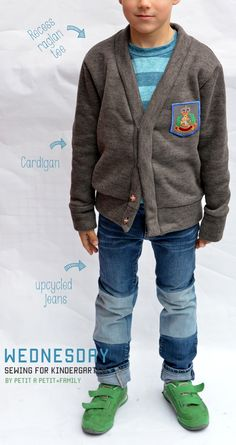 Totally doing this with too short jeans!!  via petit à petit and family: Sewing For Kindergarten