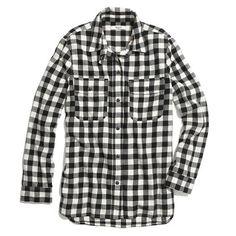 buffalo plaid shirt / madewell