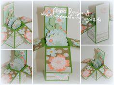 Card in a Box 'Spring' / Sweet Sorbets Designer Paper / Petal Parade  - Petite Petals - Hartwood Stamp Sets www.stampincafe-by-agnes.de