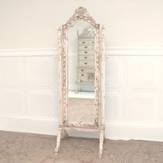 Cheval Mirror – Shabby Ivory Cheval Mirror, Honeymoon Suite, Shabby, Ivory, Antiques, Pretty, Furniture, Home Decor, Antiquities