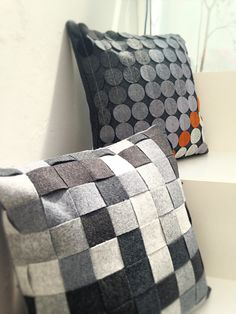 Cushion in woven Camira Blazer fabric by WoolworksUK on Etsy