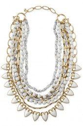 Sutton Necklace - White Stone - wear this necklace in 7 different ways!   johannealbert27@gmail.com www.stelladot.com/johannemalbert