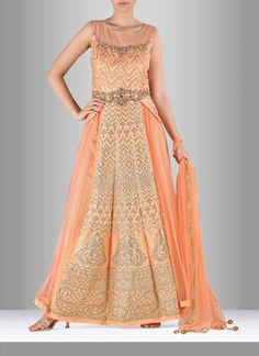 Add grace and charm for your appearance in this net trendy suit. Look ravishing…