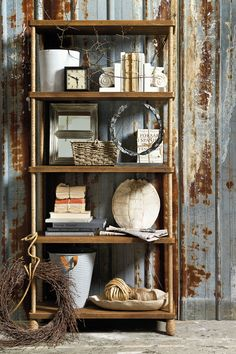 Our Pascal Rope Bookcase is super chic -- each corner post is wrapped in Abaca rope for an unexpected detail.