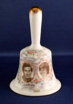 A Fenton Bone China Bell Celebrating Charles & Diana's Marriage On 9 July 1981 in Collectables, Royalty, Princess Diana | eBay