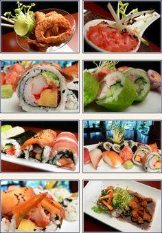 Yin Yan Sushi www.tourisme-rimouski.org C'est Bon, Fresh Rolls, Sushi, Restaurants, Menu, Ethnic Recipes, Food, Recipes, Menu Board Design